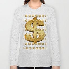 dollar money gold finance Long Sleeve T-shirt