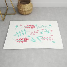 Pastel flower pattern Rug