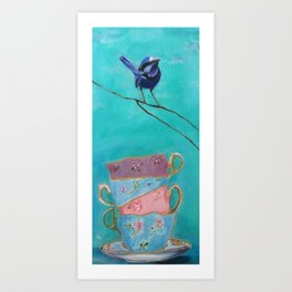 coffe cups Art Print