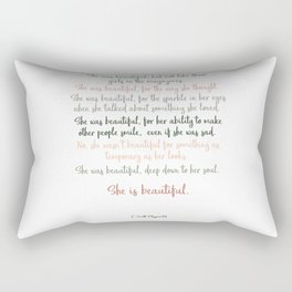 She Was Beautiful By F. Scott Fitzgerald 3 #minimalism #poem Rectangular Pillow