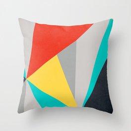 Aggressive Color Block Throw Pillow
