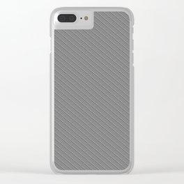Emboss Gray Cross Hatch Clear iPhone Case