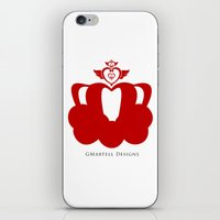 martell iPhone & iPod Skins featuring Sailor Moon Inspired Crown Red by G Martell