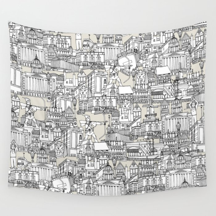 NOTTINGHAM CHAMPAGNE Wall Tapestry