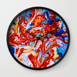 Milkblot No. 10 Wall Clock