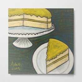 Lemon Cake Metal Print