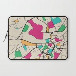 Colorful City Maps: Antwerp, Belgium Laptop Sleeve