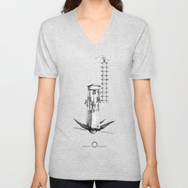 The Hearts Hunters and the magical tower for impossible love. Unisex V-Neck