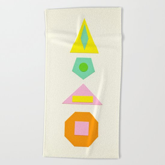 Shapes Within Shapes Beach Towel