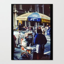 Frankfurter Pushcart 1981 Canvas Print