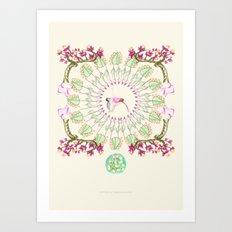 yoga garden III Art Print