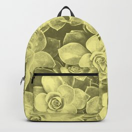 Pastel yellow aloes Backpack