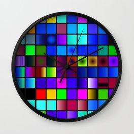 Palette color Wall Clock