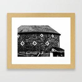 Round Barn Framed Art Print