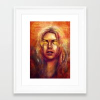 bad wolf Framed Art Prints featuring Bad Wolf by Five-Oclock