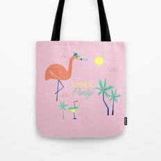 Pink-Flamingo Tote Bag