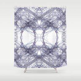 Threads Purple. Shower Curtain