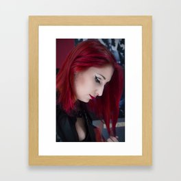 In Her Thoughts Framed Art Print