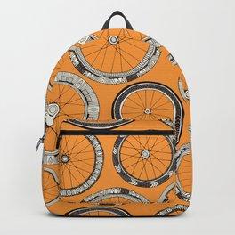 bike wheels amber Backpack