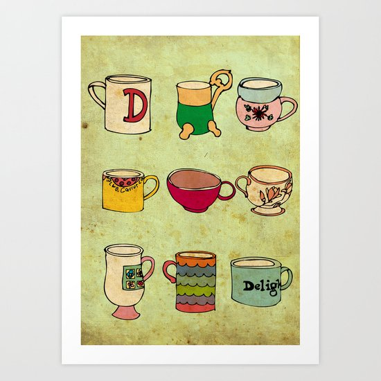 My Mugs! Art Print