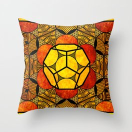Sacred Geometry for your daily life -  Platonic Solids - ETHER COLOR Throw Pillow