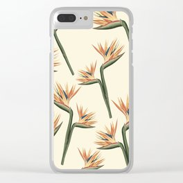 Birds of Paradise Flowers Clear iPhone Case