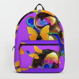 PANTENE ULTRA VIOLET GOLD BUTTERFLY BUBBLES DECORATIVE ART Backpack