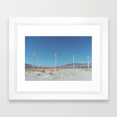 Palm Springs Windmills VIII Framed Art Print