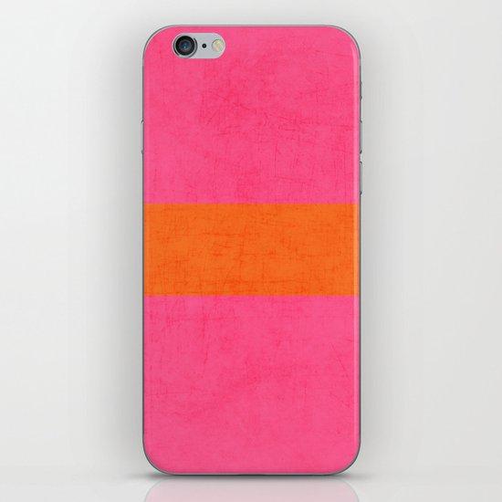 hot pink and orange classic  iPhone & iPod Skin