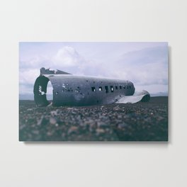 abandoned airplane Metal Print