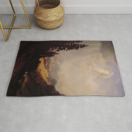 The Matterhorn By Albert Bierstadt | Reproduction Painting Rug
