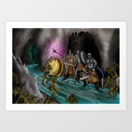 Ambush at the Entry Cave Art Print
