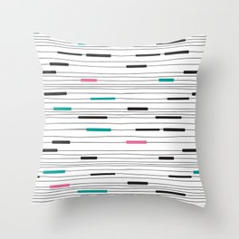 Simple paths Throw Pillow