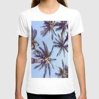 palm trees T-shirts featuring Palm trees by Brenda Alvarez