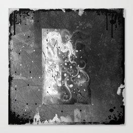 Blossom wolf: BW Canvas Print