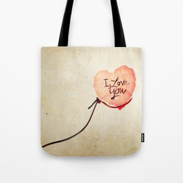 Love heart Message Tote Bag