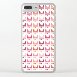 HEARTS A PLENTY! Clear iPhone Case