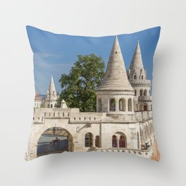 Budapest Fisherman's Bastion Throw Pillow
