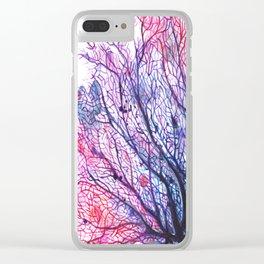 Fan Coral - Purple Clear iPhone Case