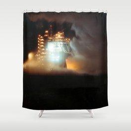 A-1 Test Stand Night Firing Shower Curtain
