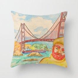 Underneath the Bridge Throw Pillow