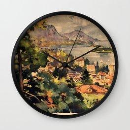 Stresa Vintage Travel Poster Wall Clock