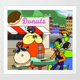 Donut Challenge Art Print