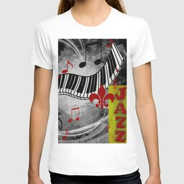 JAZZ PIANO KEYBOARD MUSIC T-shirt