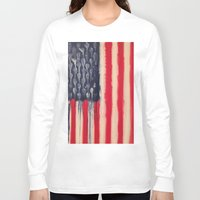 america Long Sleeve T-shirts featuring America  by Matt Pecson