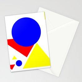 Bauhaus geometric shapes modern art Stationery Cards