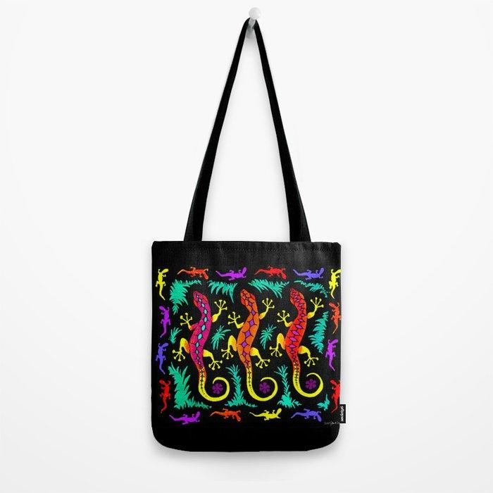 Tropical Geckos Tote Bag