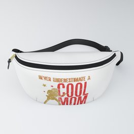 Never Underestimate A Cool Mom With a Guitar Funny Gift Fanny Pack