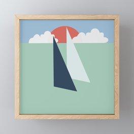 Regatta pastel Framed Mini Art Print