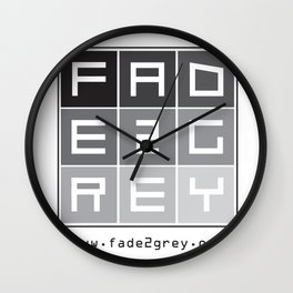 fade 2 grey Wall Clock